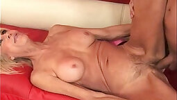 Blonde guttied by tboy and granny
