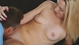 Bespectacled student gives an erotic nuru
