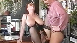 Classy babe banging a boss to pay back their parking pass