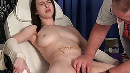 Cute Jasmine tortured and humiliated by her Doctor