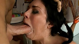 Tied up wench gets eaten