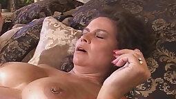 British Milf titsdancer fucks her masseur deeply