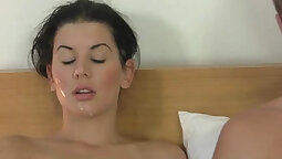 Cheating girlfriend in her first porn video