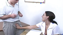 Beautiful Amateur Teen Sluts giving handjob