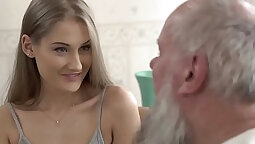 Teen Fucked by grandpa and her wifes Cockwife Bianca