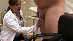 Clothed big tit crossdresser stripping and stuffing