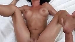 Mila fucks herself until she cums