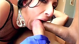 Brunette deep shoves cocks in pussy and ass