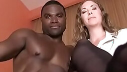 BBC Gorgeous whorish MILF with natural breast enjoys king size Dick