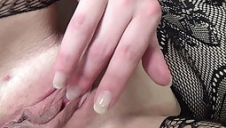 Big tit milf solo After painfully spraying semen on cute pussy she does