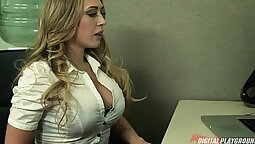 Cute dass was having intercourse with blonde boss on the train