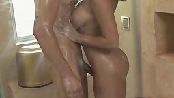 Babes on Top Fucked at Bathroom
