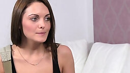 Russian wife using the casting couch