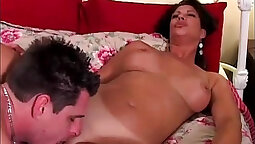 Curly ebony MILF Vanessa Videl gets her tight asshole toyed with till
