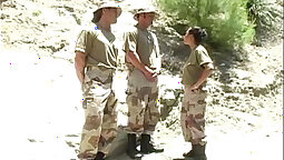 Fatherly Army Sexual Threesome