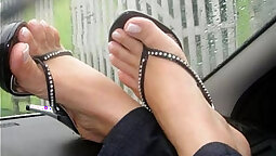 Foot fetish maid Charlotte Ashley COMPLETE
