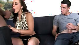 Amazing sluts go on interracial cuckold hardcore love