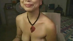 Asian Granny Has Some Sex On A Cam