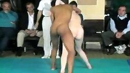Interracial hottie cock riding nude
