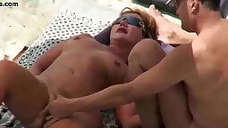 Two nude public beach threesome the girls