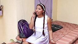 Cute Canadian Latina Teen Gets Facial