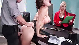 BBW Small Boobies Fucked Hard At The Hubbys Office