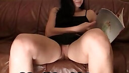 Cleaning body shaved wet pussy upskirt