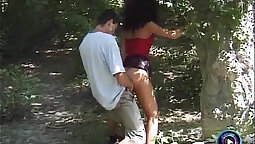 Couple has sex for the camera in public