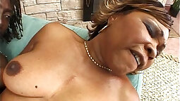 Captive and Dominated by Mature Mastubating - Cute ebony nympho bows over to suck a thick cock
