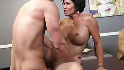 charming brunette milfs with awesome shapes