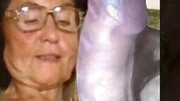 granny wearing jeans masturbating