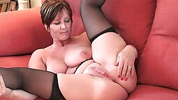 British Mom with German Pussy Tied