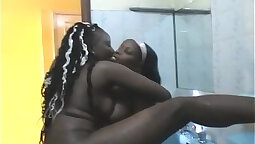Black Lesbians Tit Fucking In The Bathroom