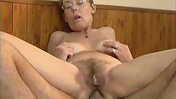 Hairy granny masseuse with hot ass