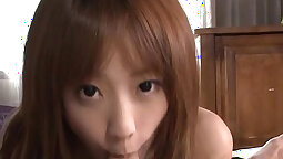 Busty Japanese Chick Abi Lee Amazing Blowjob