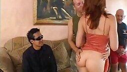 Threesome hot dildo anal DP