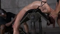 Slim boned breasty before bondage