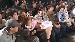 Japan Kagomi takes some balls in the sock wrestling