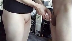 Tattooed Emo BJ gets me soaked in cum