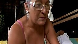 Mature granny pounded by younger