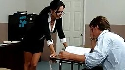 Busty tranny Ava Addams enjoys missionary position