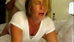 Watch a superb amateur milf fucking her own son