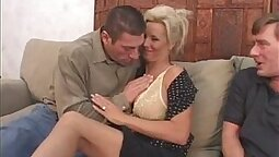 Jerking his wife pussy