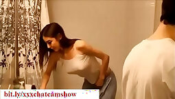 Brother seducing step sister in common bedroom