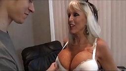 Mom teasing step son