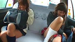 Asian fucked in alternative pink schoolgirl lingerie