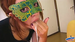Bi movie and redhead teen first swallow
