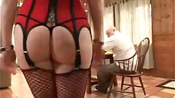 Miss Bunny Gives It Handyman Combo and Hands Off To A Nice Guy