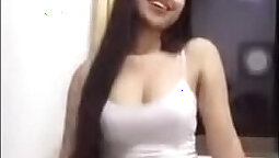 POV Sophie Dee deepthroats on the livecam