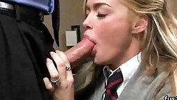 My beautiful wife so hot in school uniform
